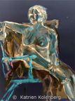 Sitting Nude - Invert